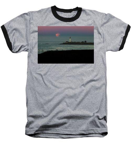 Pigeon Point Supermoonset Baseball T-Shirt
