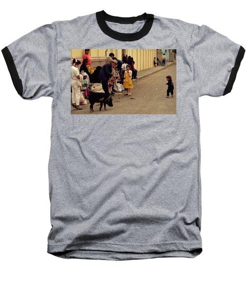 Piggy Went To Market Baseball T-Shirt