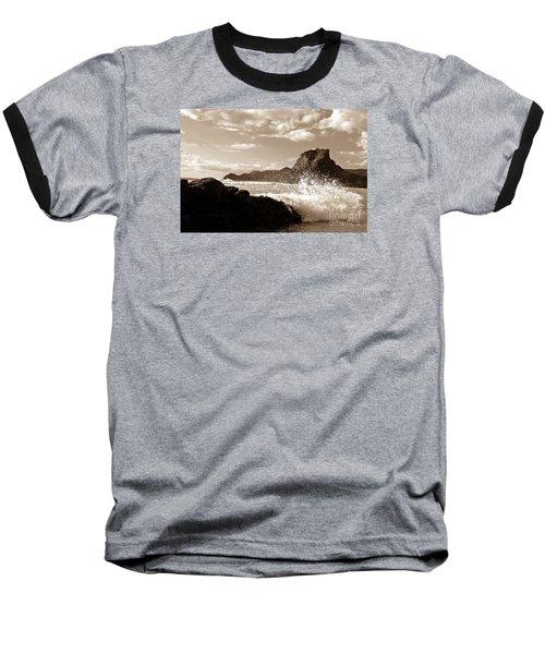 Piha New Zealand Waves Baseball T-Shirt