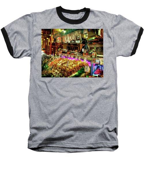 Pike Market Fresh Fish Baseball T-Shirt