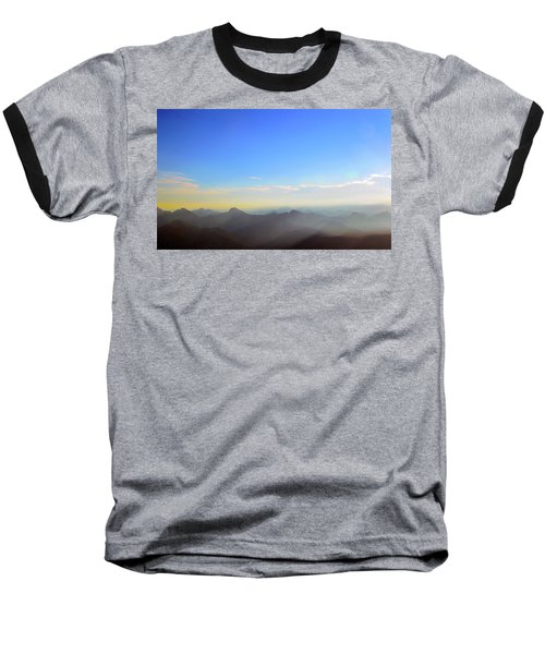 Pilchuck And Three Sisters Sunrise Baseball T-Shirt