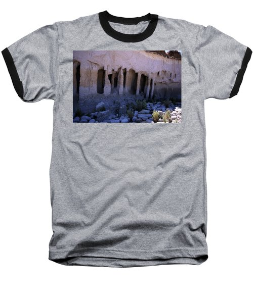 Pillars And Caves, Crowley Lake Baseball T-Shirt by Michael Courtney