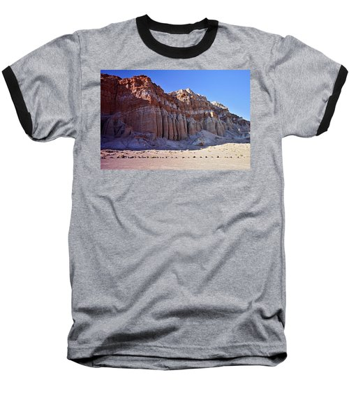 Pillars, Red Rock Canyon State Park Baseball T-Shirt by Michael Courtney