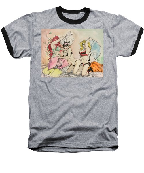 Pillow Fight Baseball T-Shirt