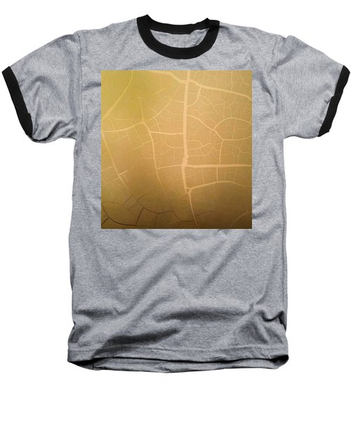 Baseball T-Shirt featuring the photograph Pillow Pattern Amber Leaf/crackle by Steed Edwards