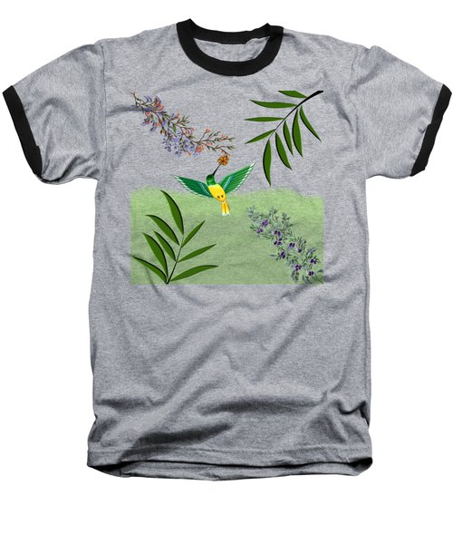 Humming Bird On Transparent Background Baseball T-Shirt