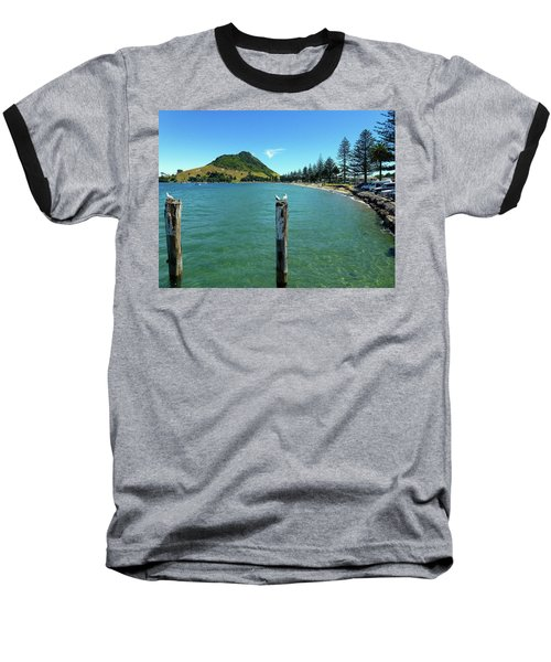 Pilot Bay Beach 1 - Mt Maunganui Tauranga New Zealand Baseball T-Shirt by Selena Boron