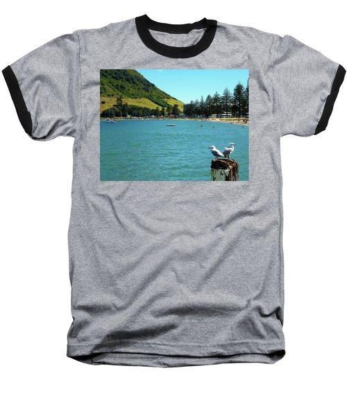 Pilot Bay Beach 5 - Mt Maunganui Tauranga New Zealand Baseball T-Shirt by Selena Boron