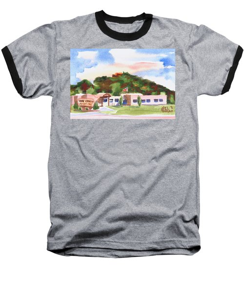 Baseball T-Shirt featuring the painting Pilot Knob Mountain W401  by Kip DeVore
