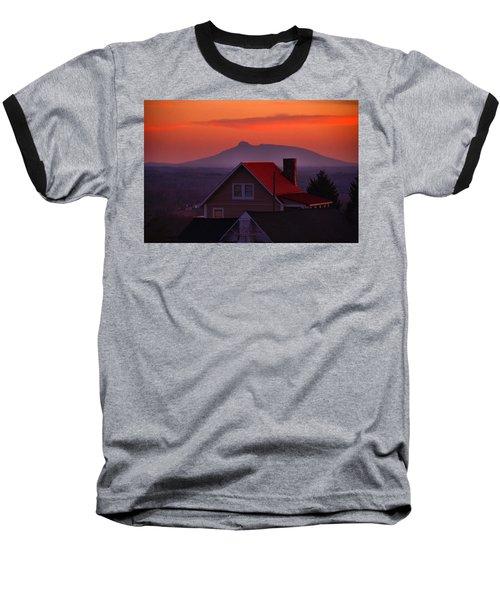 Pilot Sunset Overlook Baseball T-Shirt by Kathryn Meyer