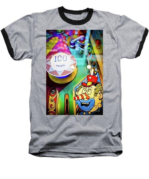 Pinball Art - Clown Baseball T-Shirt