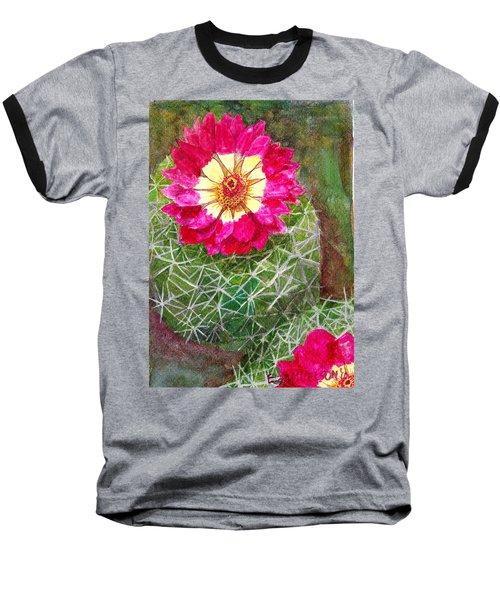 Pincushion Cactus Baseball T-Shirt