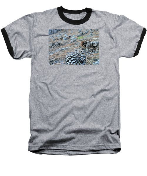 Baseball T-Shirt featuring the photograph Pine Cones by Kay Gilley