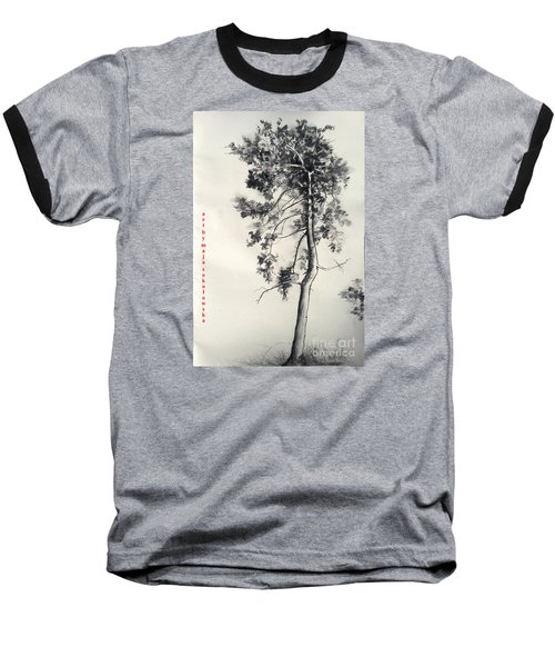 Pine Drawing Baseball T-Shirt