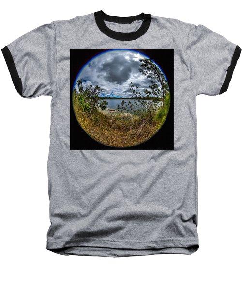 Pine Glades Lake 18 Baseball T-Shirt by Michael Fryd
