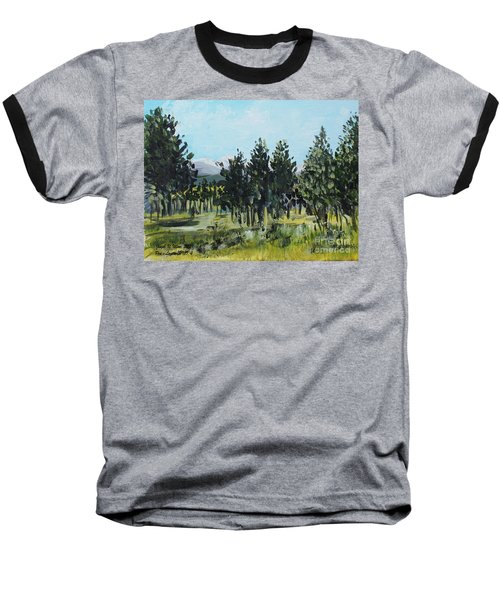 Pine Landscape No. 4 Baseball T-Shirt