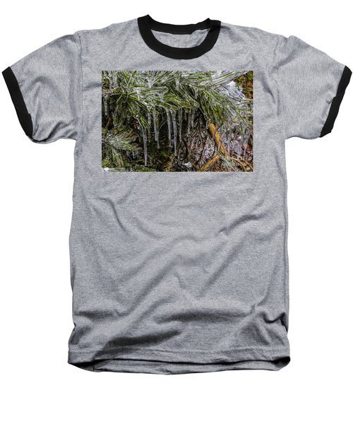 Baseball T-Shirt featuring the photograph Pine Needlecicles by Barbara Bowen