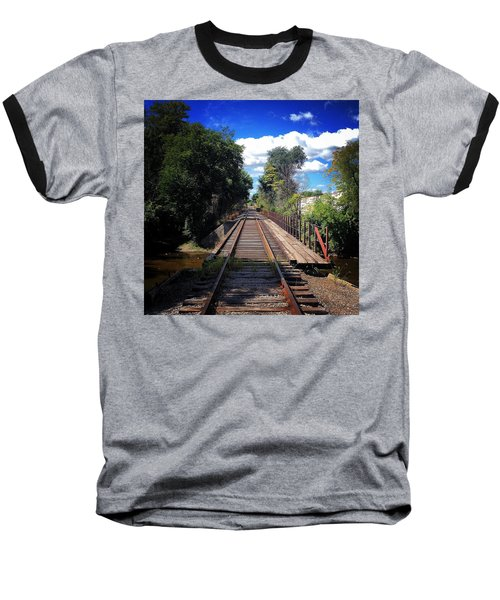 Pine River Railroad Bridge Baseball T-Shirt