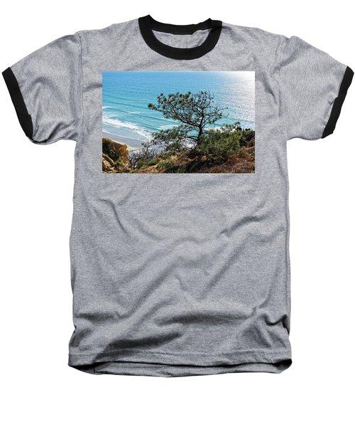 Pine Tree On Coast Baseball T-Shirt