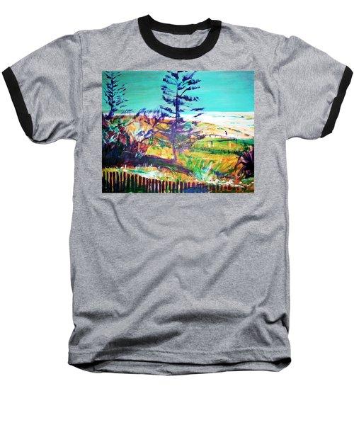 Pine Tree Pandanus Baseball T-Shirt by Winsome Gunning