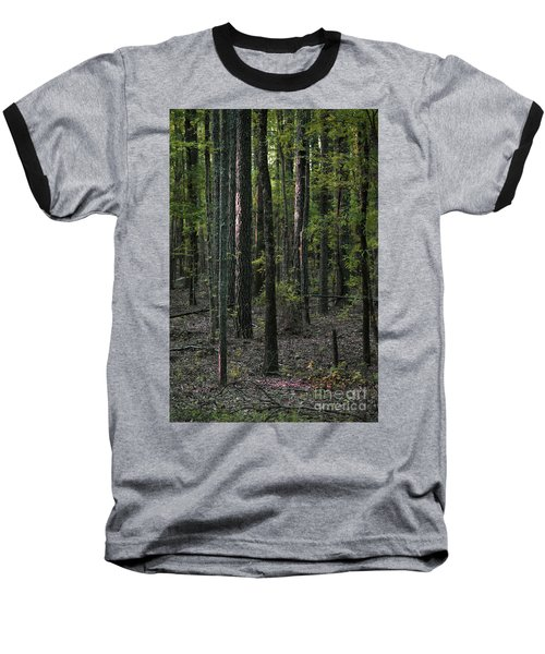 Baseball T-Shirt featuring the photograph Pine Wood Sunrise by Skip Willits
