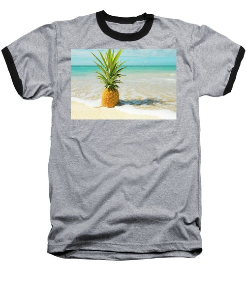 Baseball T-Shirt featuring the photograph Pineapple Beach by Sharon Mau