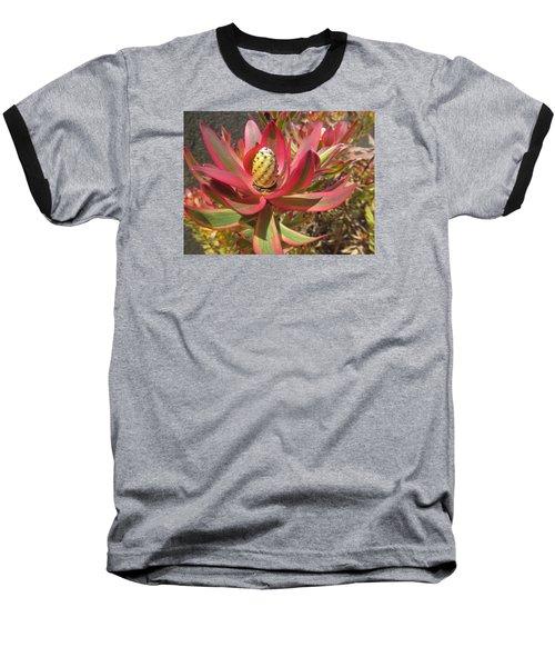 Pineapple King Flower Baseball T-Shirt by Tina M Wenger