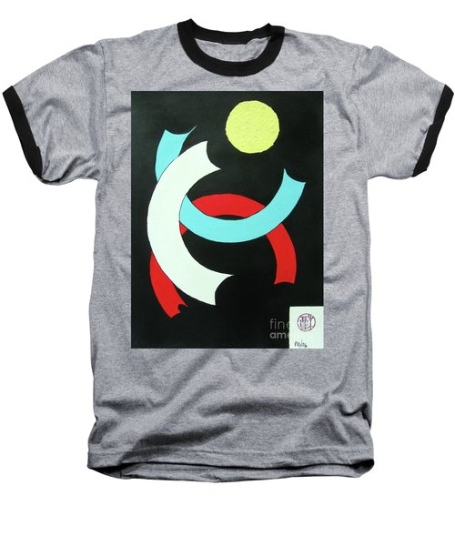 Pineapple Moon Baseball T-Shirt by Roberto Prusso
