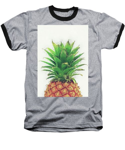Pineapple Baseball T-Shirt by Taylan Apukovska