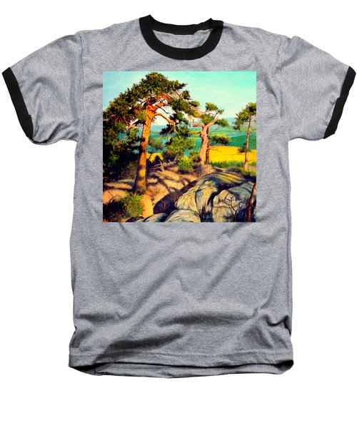 Pines On The Rocks Baseball T-Shirt