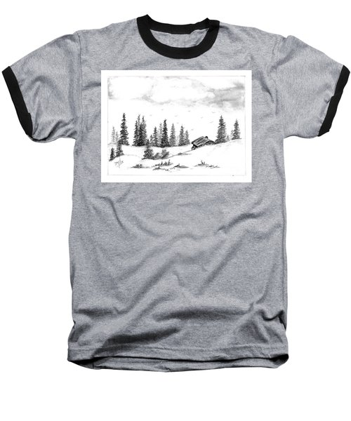 Pinetree Cabin Baseball T-Shirt by Terri Mills
