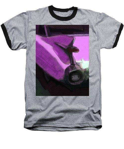 Pink 1959 Cadillac Tailfin Pop Baseball T-Shirt