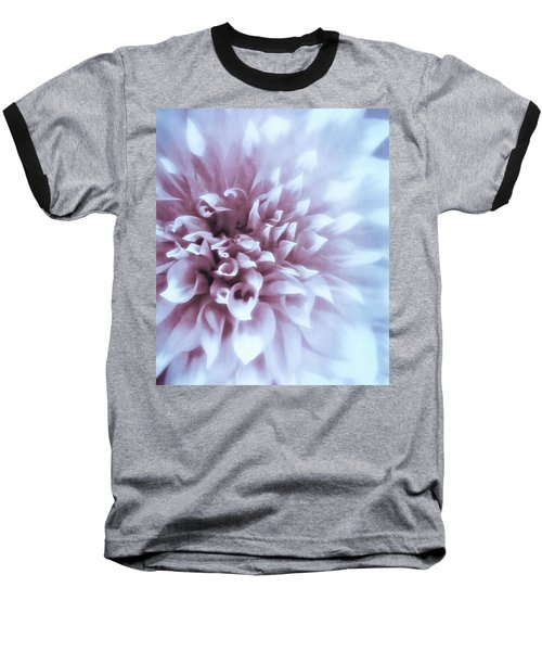 Pink And Blue Dahlia Baseball T-Shirt