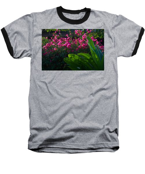 Pink And Green Baseball T-Shirt by Jim Walls PhotoArtist