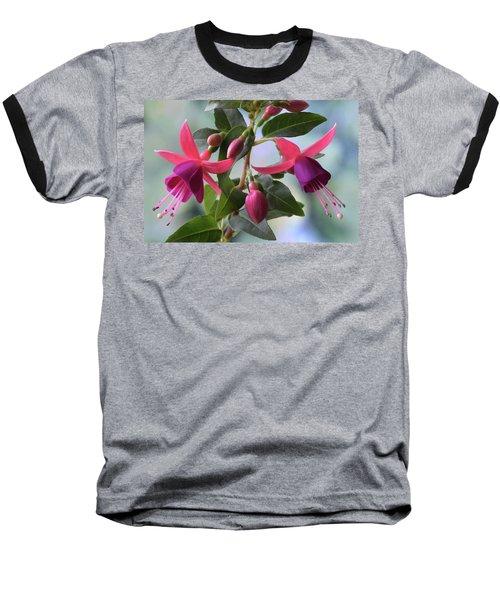 Pink And Purple Fuchsia Baseball T-Shirt