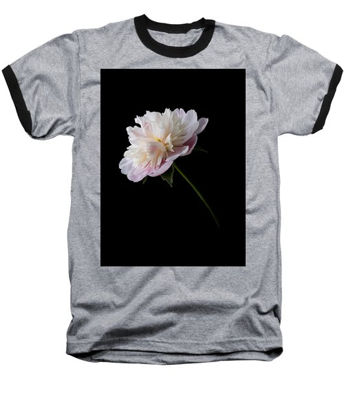 Pink And White Peony Baseball T-Shirt by Patti Deters
