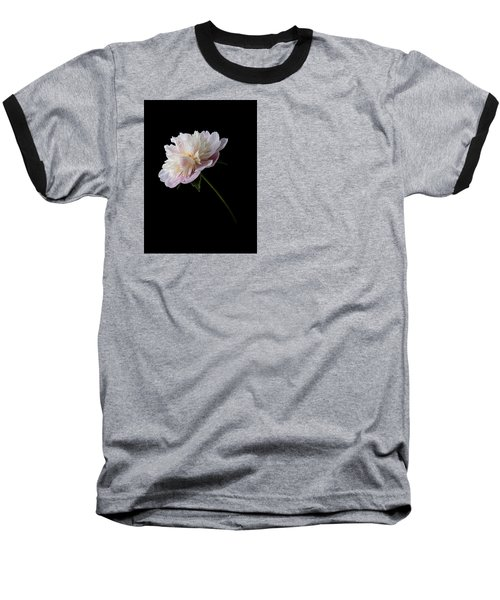 Pink And White Peony Baseball T-Shirt