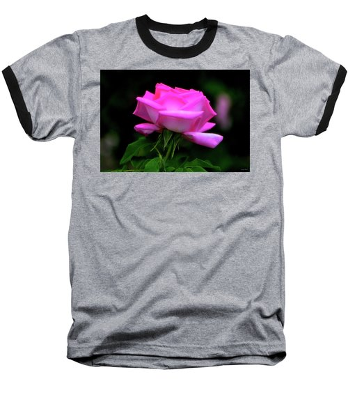 Baseball T-Shirt featuring the photograph Pink And White Rose 005 by George Bostian