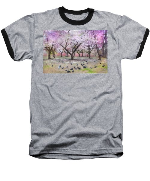 Baseball T-Shirt featuring the photograph Pink And White Spring Blossoms - Boston Common by Joann Vitali