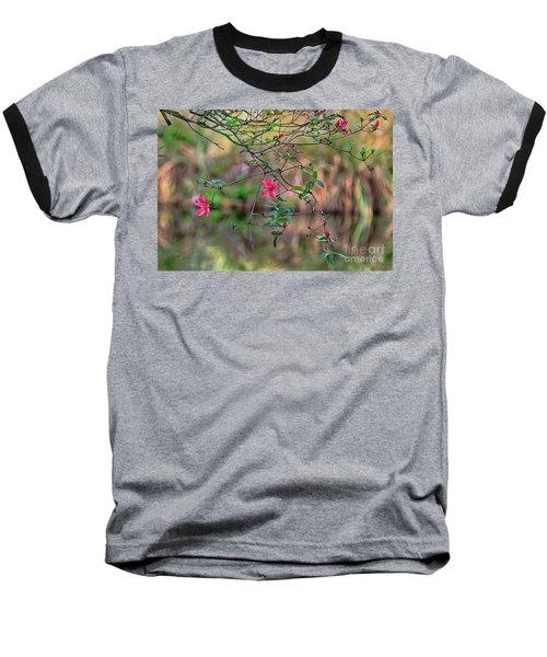 Baseball T-Shirt featuring the photograph Pink Azalea Dream by Deborah Benoit