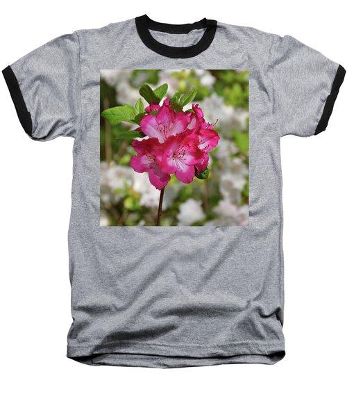 Baseball T-Shirt featuring the photograph Pink Azalea by Sandy Keeton