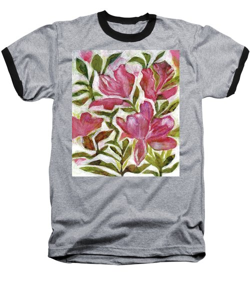 Pink Azaleas Baseball T-Shirt
