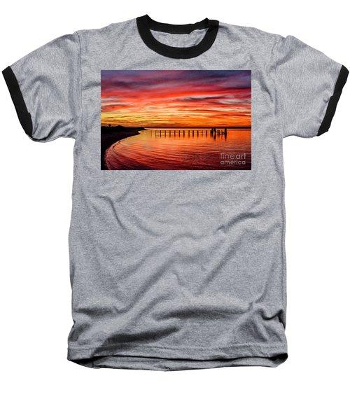 Pink Bay Baseball T-Shirt
