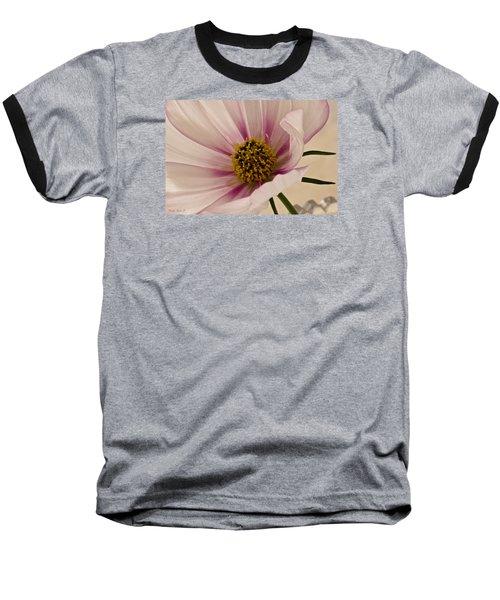 Pink Bi Color Cosmo Macro Baseball T-Shirt by Sandra Foster