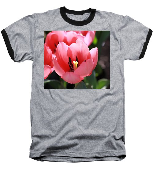 Pink Bloom Baseball T-Shirt
