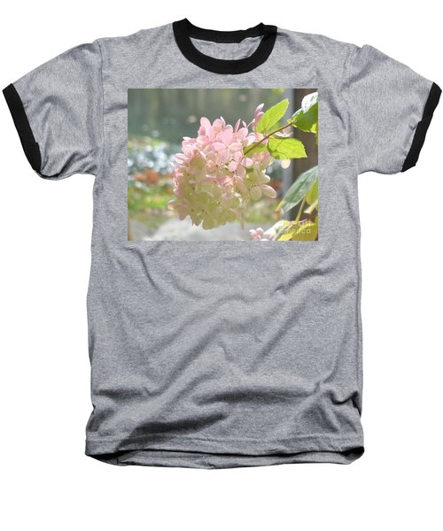 Pink Bloom In Sun Baseball T-Shirt by Christina Verdgeline