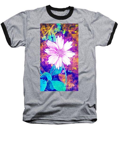 Pink Bloom Baseball T-Shirt by Rachel Hannah