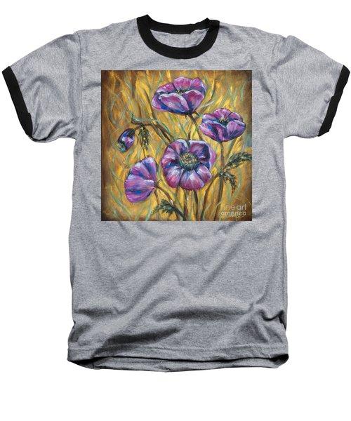 Pink Blooms Baseball T-Shirt