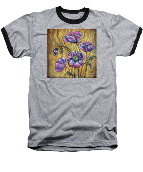 Pink Blooms Baseball T-Shirt