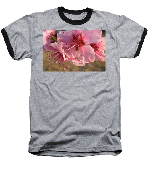 Baseball T-Shirt featuring the photograph Pink Blossoms by Barbara Yearty